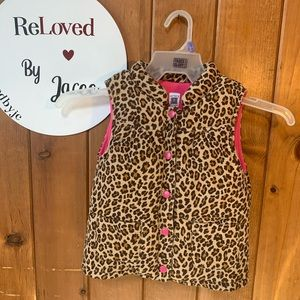 Carters Cheetah Vest sz 5